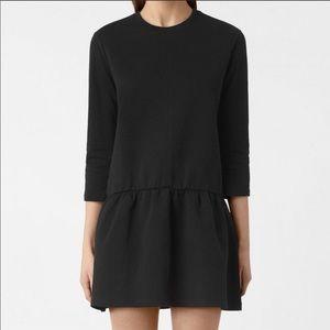 ALL SAINTS Niki Sweater Dress in Black NWT Size XS